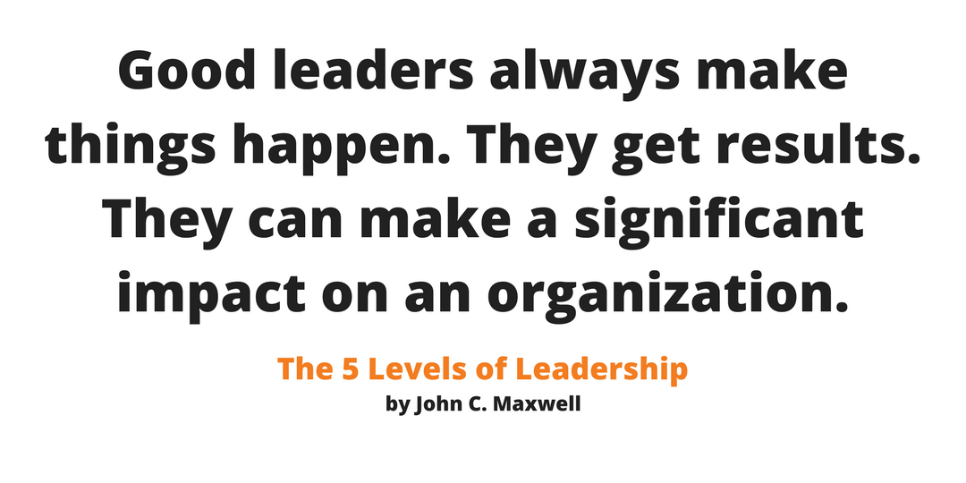 Real leaders produce results